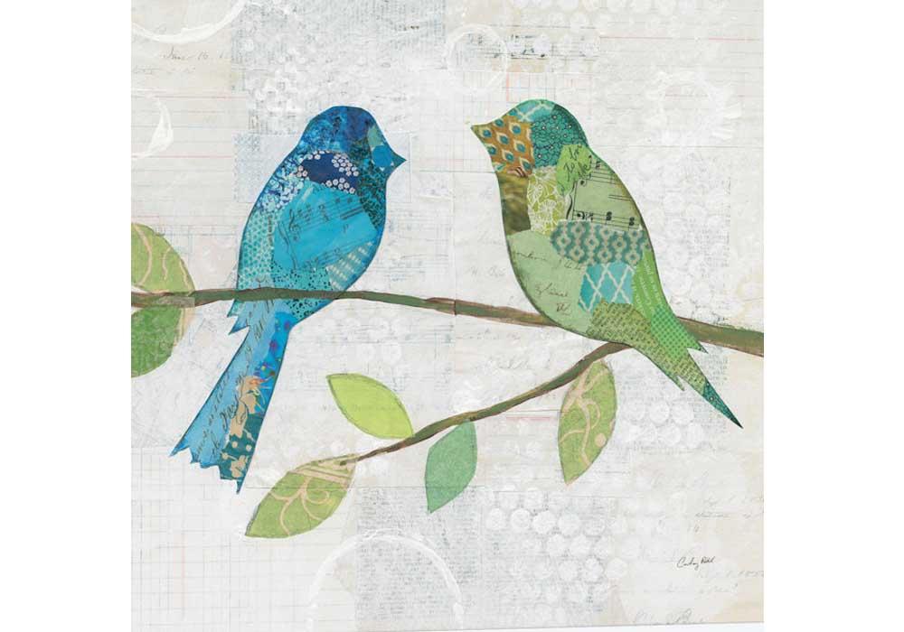 Tranh đôi chim đơn giản treo phòng ngủ