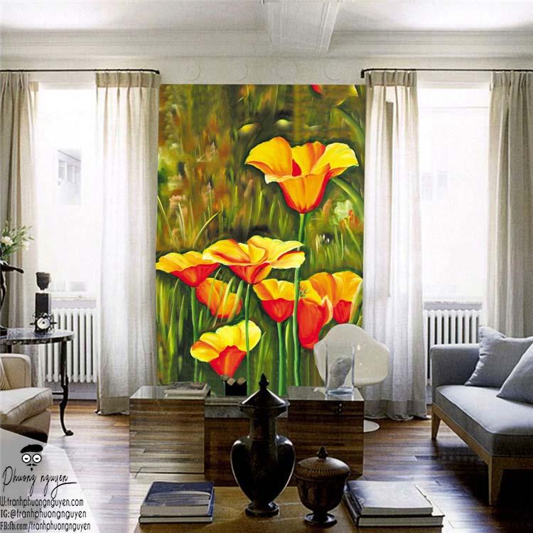 Tranh hoa treo tường cở lớn