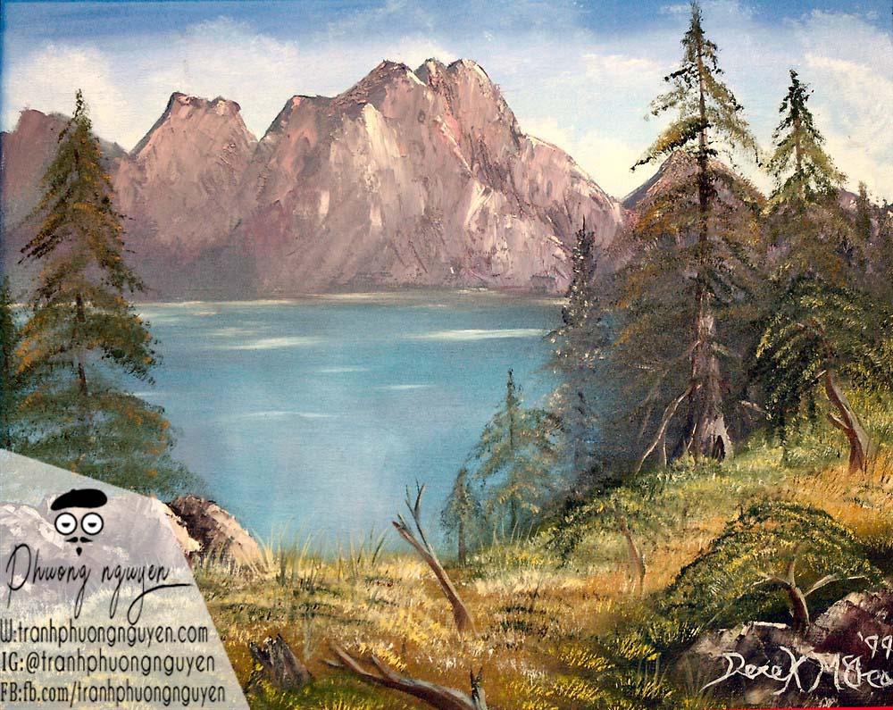 Tranh rừng núi phong cảnh