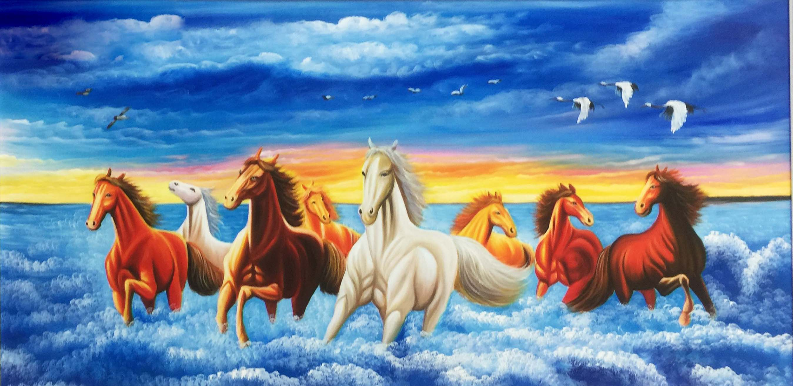Tranh Ngựa Mã Đáo Thành Công Hợp Với Người Mệnh Thủy