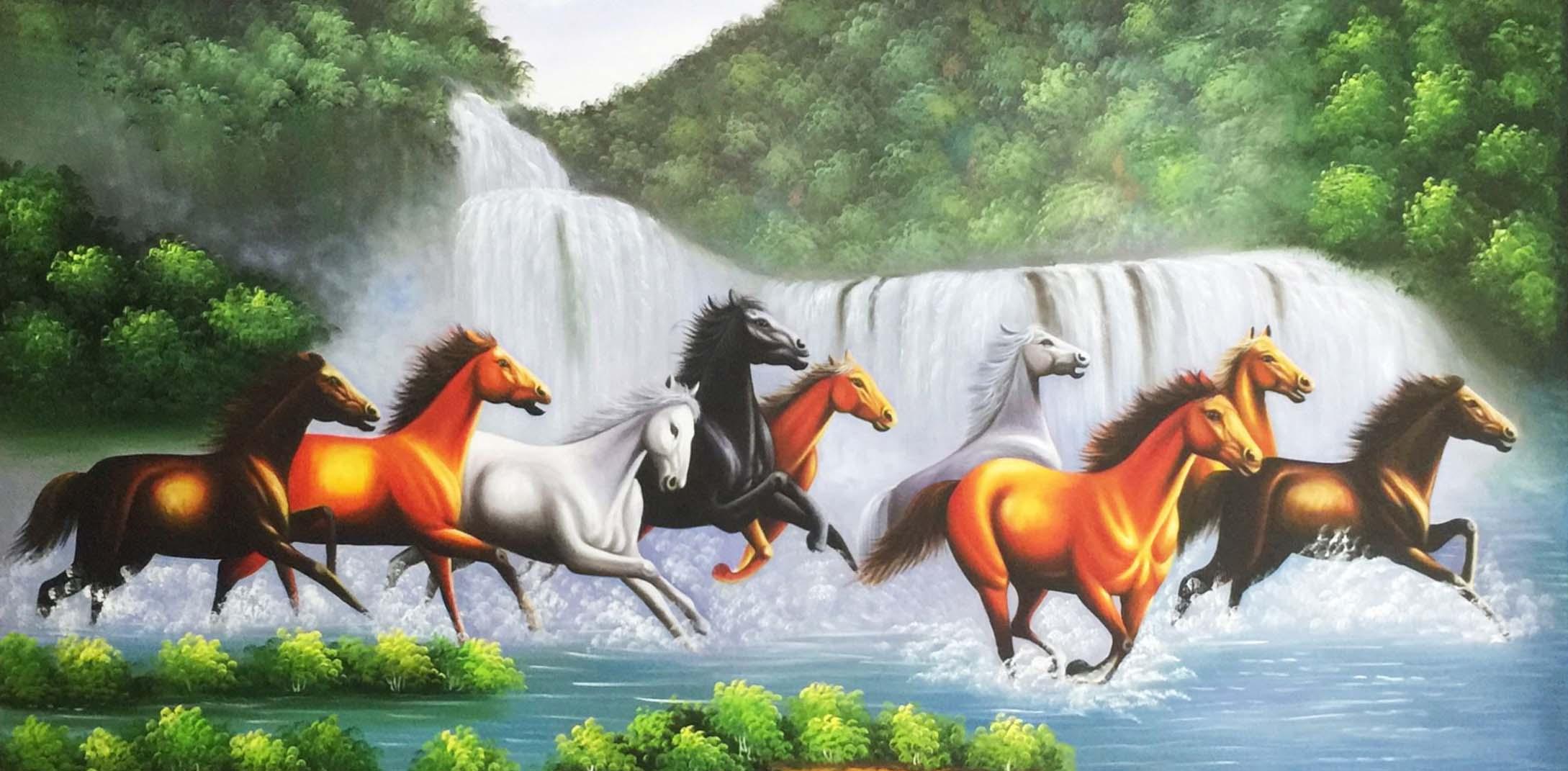 Tranh phong thủy ngựa mã đáo thành công hợp cho người mệnh thổ