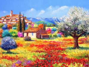 painting landscapes Inspirational france country landscape jean