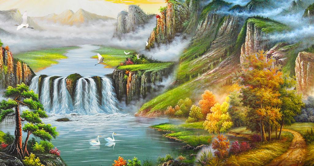 Tranh phong cảnh sơn thủy hữu tình trung quốc