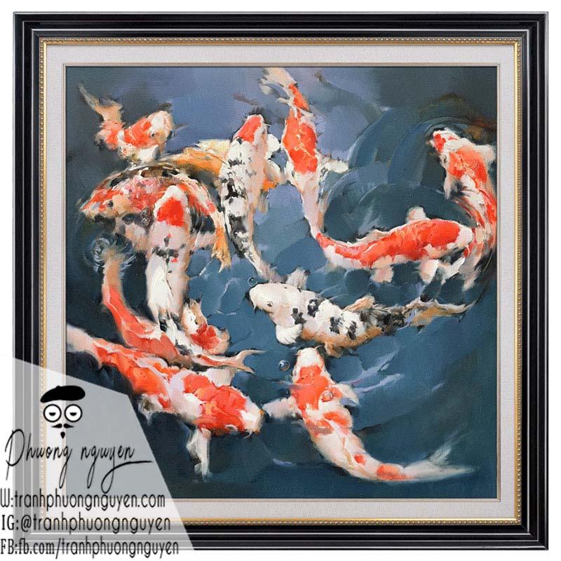 Tranh sơn dầu cá chép hợp tuổi nào