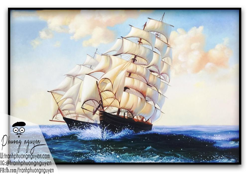 Tranh thuận buồm xuôi gió đẹp phát tài