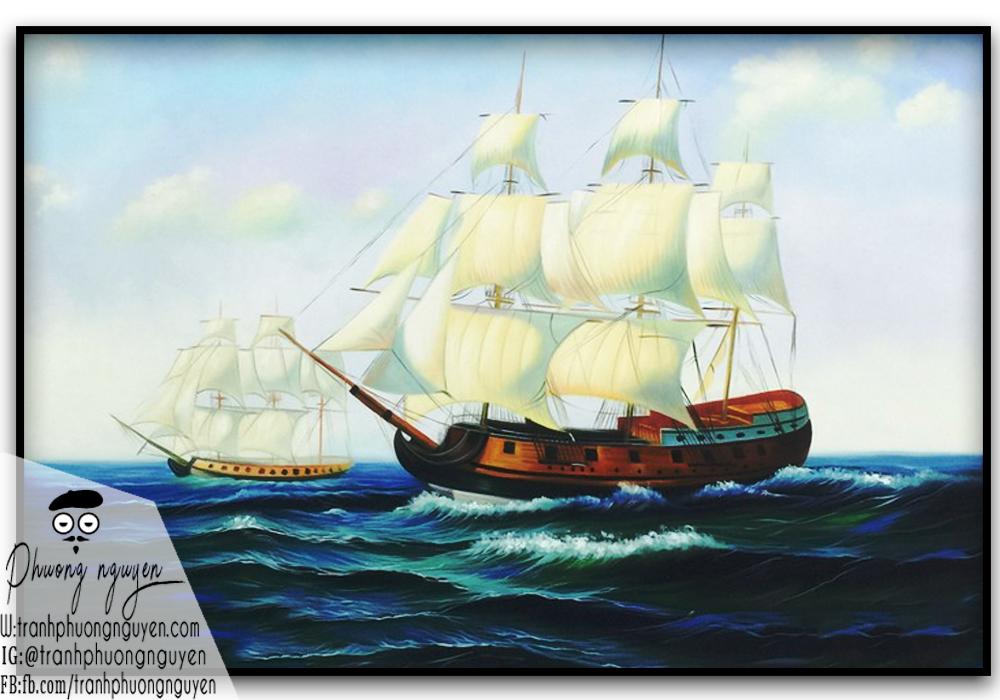 tranh thuần buồm xuôi gió phong thủy đẹp
