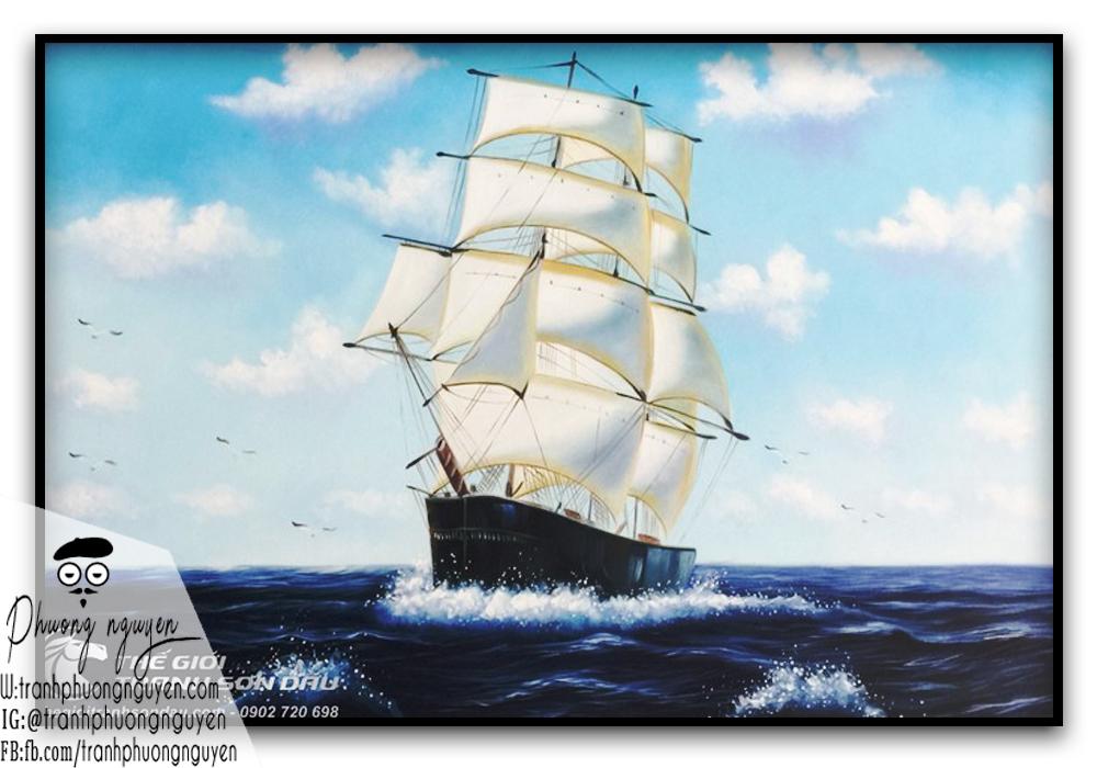 Tranh phong thủy tài lộc thuận buồm xuôi gió