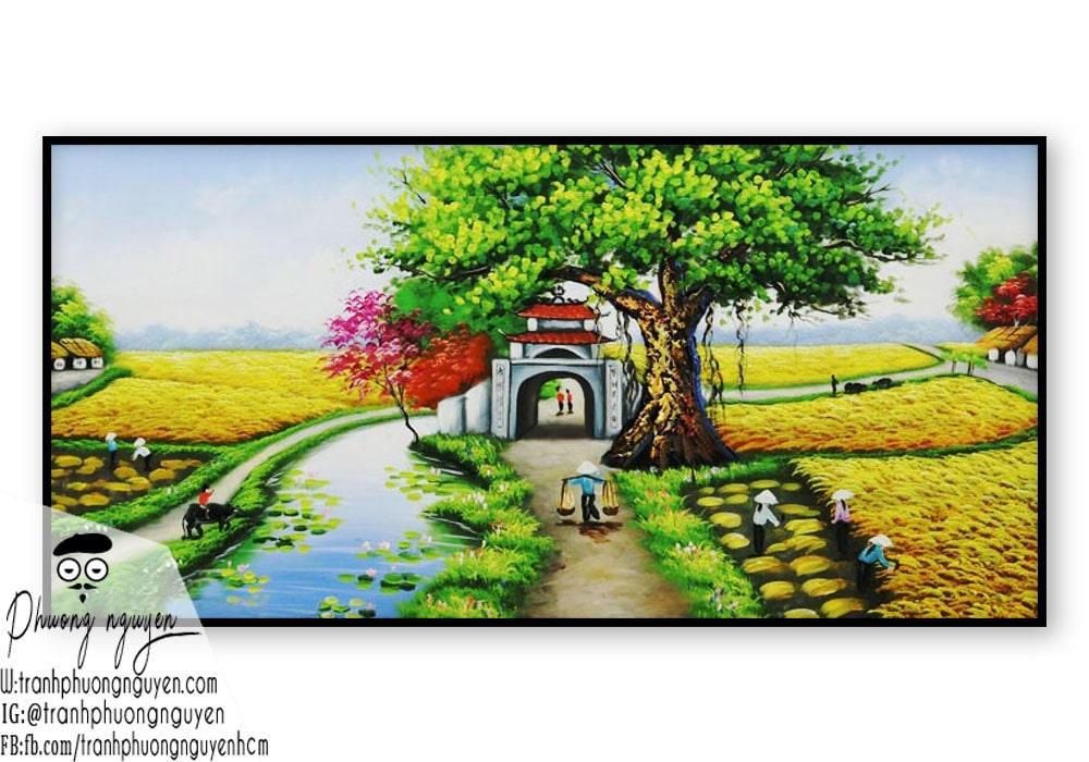Tranh phong cảnh làng quê việt nam