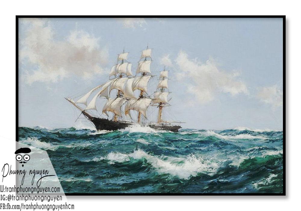Tranh phong thủy thuận buồm đẹp treo phòng khách