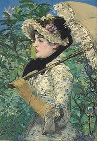 Bức danh họa Spring (Le Printemps) - Mùa Xuân - Édouard Manet