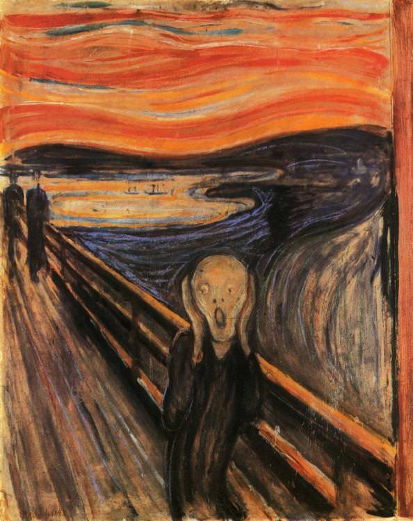 Bức danh họa The Scream – Tiếng Thét – Edvard Munch