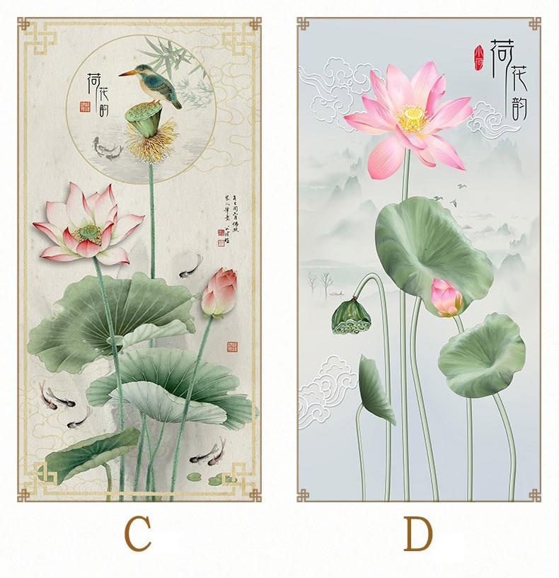 Tranh hoa sen phong thủy - tranh phương nguyên