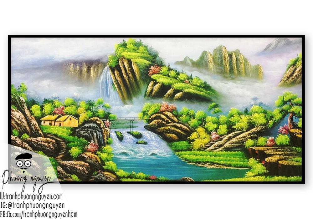 Tranh phong cảnh sơn thủy núi non hữu tình