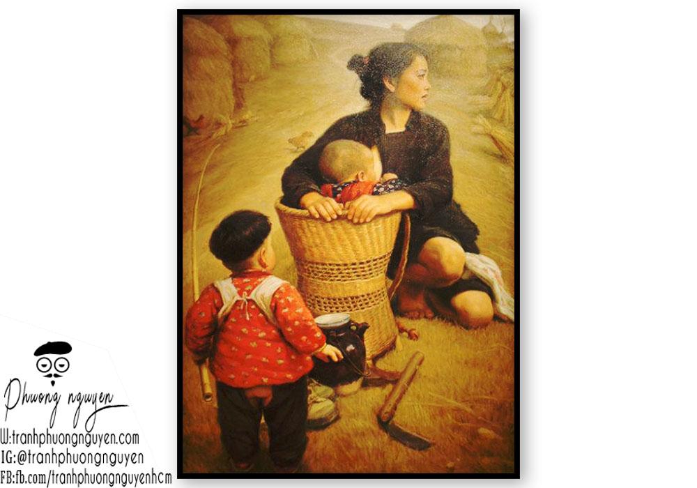 Tranh người mẹ nông thôn