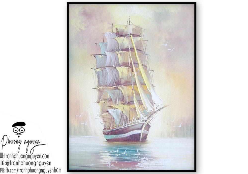 Tranh thuyền buồm cho tuổi tý