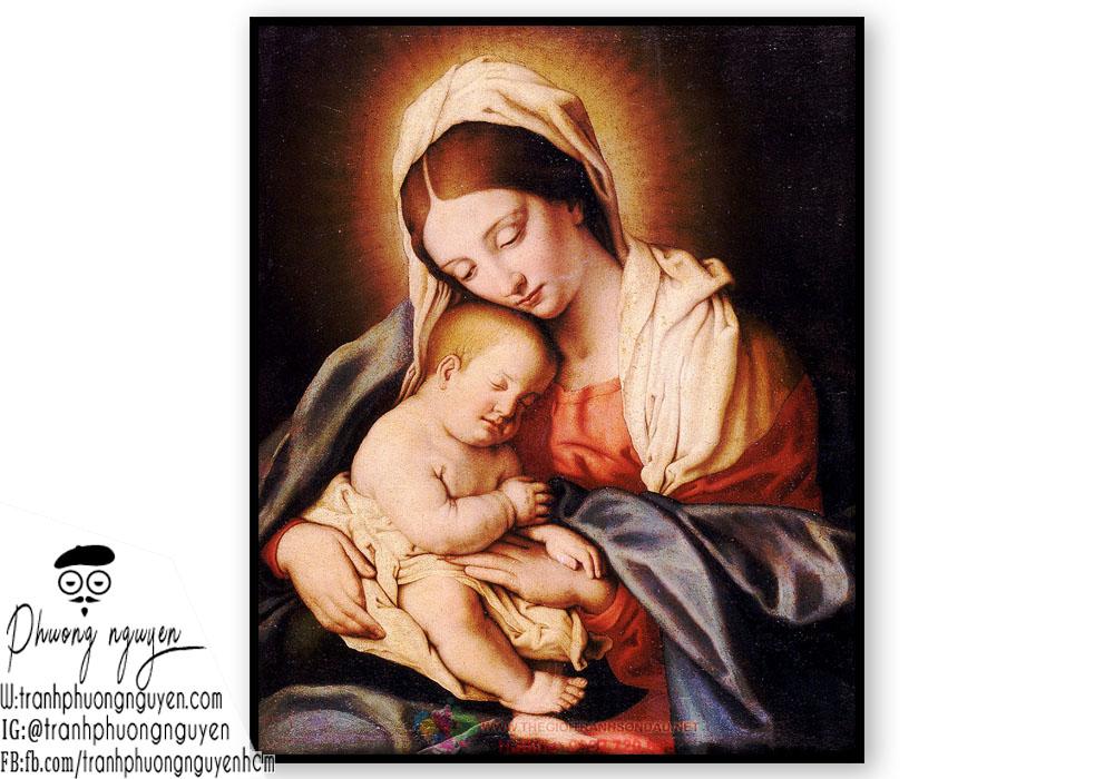 tranh vẽ mẹ thiên chúa giáo