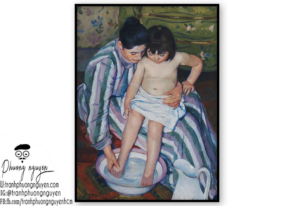 tranh vẽ người mẹ phong cảnh nước ngoài