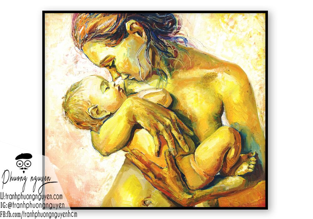 Tranh vẽ về mẹ phong cách hiện đại