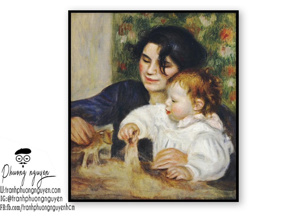 Tranh vẽ về mẹ đẹp nhất sơn dầu