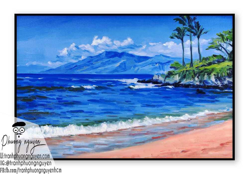 Tranh phong cảnh biển đẹp giá rẻ