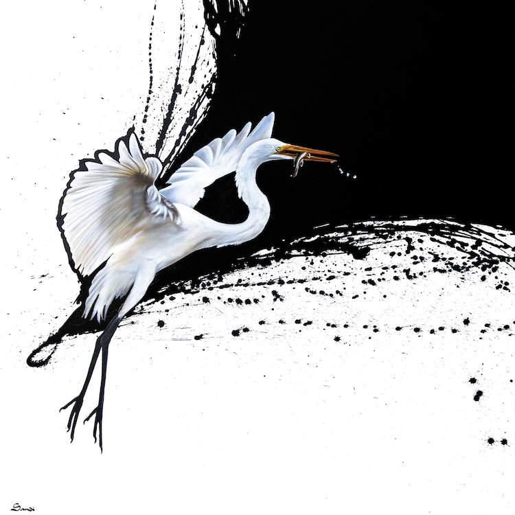 Chim cò theo trường phái trừa tượng