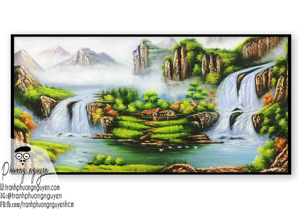 Tranh hữu tình đẹp phong cảnh