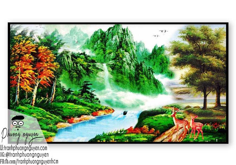 Tranh phong cảnh sơn thủy hữu tình - PN1083