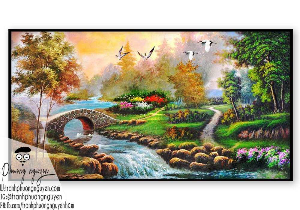 Tranh sơn thủy đẹp giá rẻ- PN1093