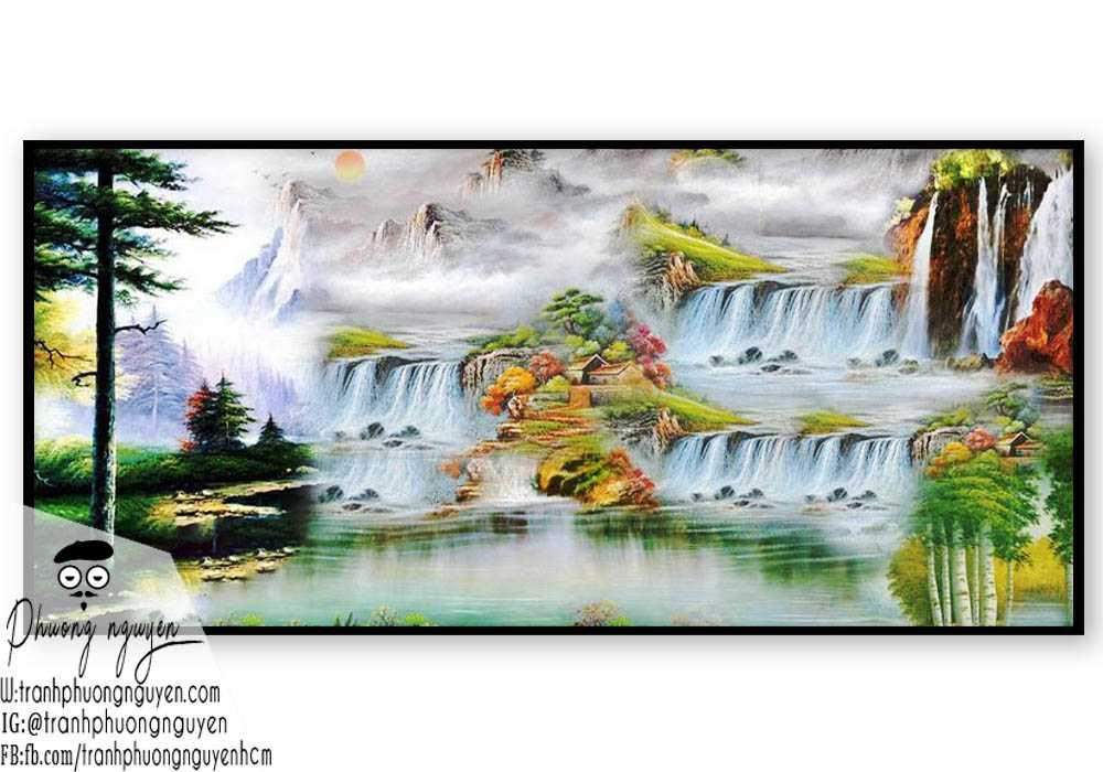 Tranh sơn dầu phong cảnh sơn thủy- PN1096