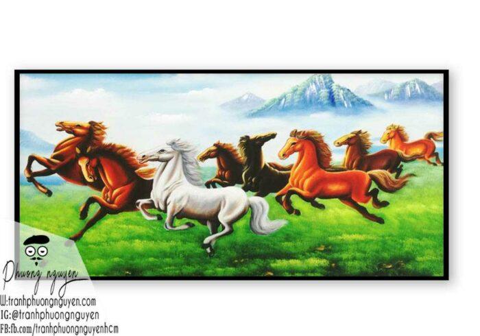 Ngựa bát mã phú quý - PN1208