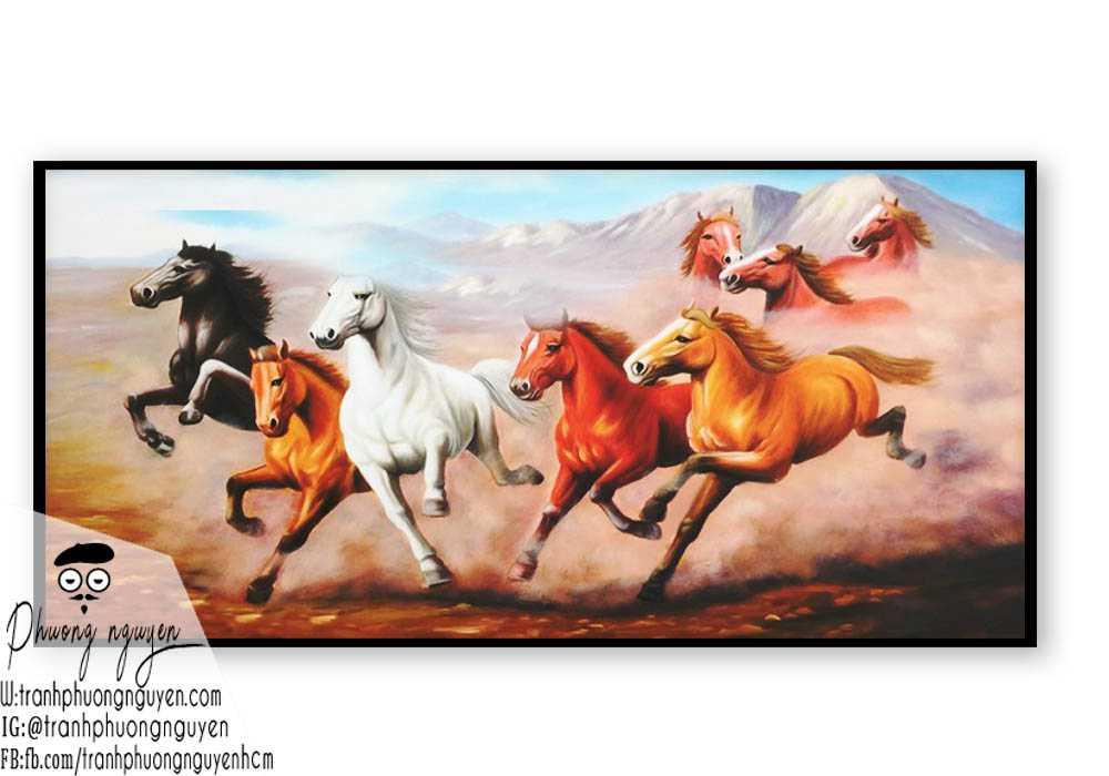 Ngựa bát mã phú quý - PN1209