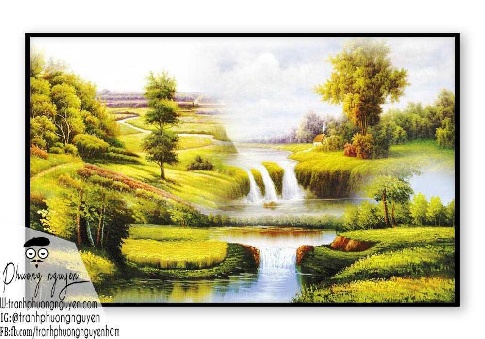 Tranh sơn dầu phong cảnh sơn thủy- PN1097