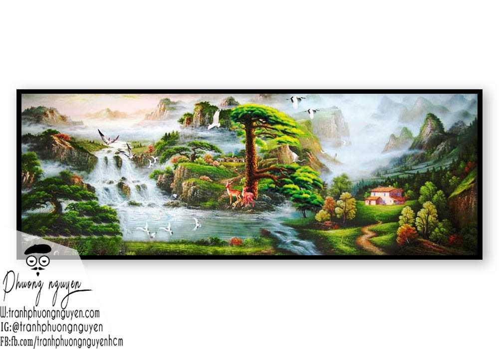 Tranh sơn dầu phong cảnh sơn thủy- PN1099