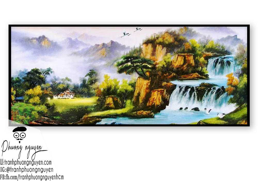 Tranh phong cảnh sơn thủy hữu tình - PN1084