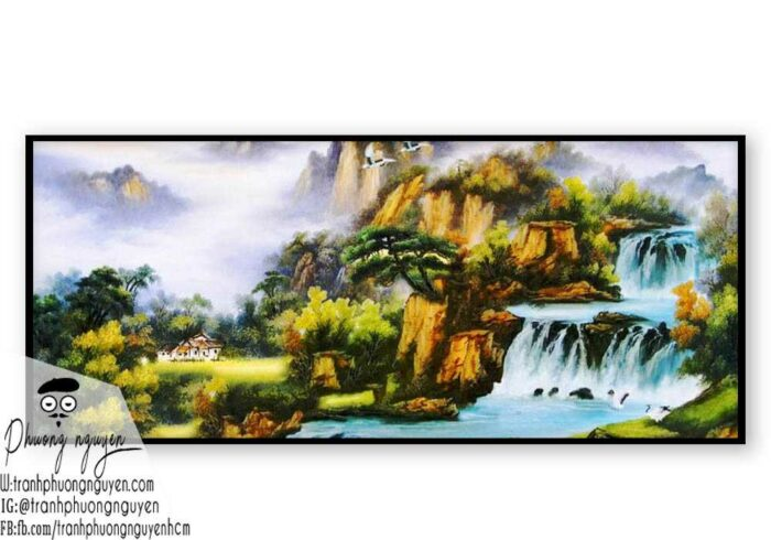Tranh phong cảnh thiên nhiên núi rừng- PN1105