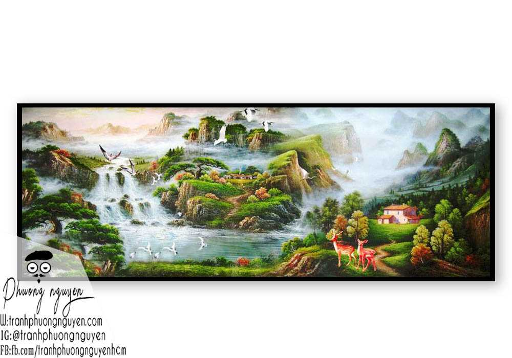 Tranh phong cảnh thiên nhiên núi rừng- PN1106