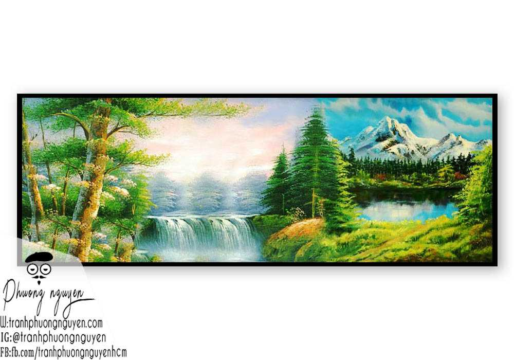 Tranh sơn dầu núi rừng - PN1109