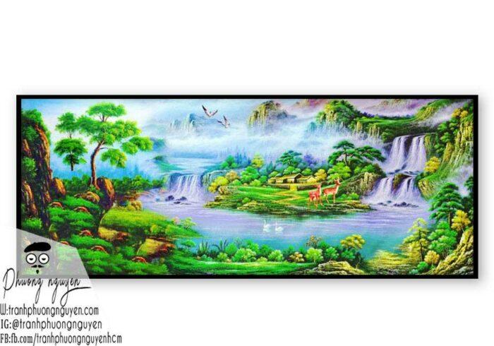 Tranh sơn dầu núi rừng - PN1111
