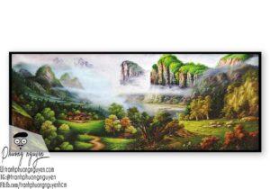 Tranh sơn dầu núi rừng - PN1112