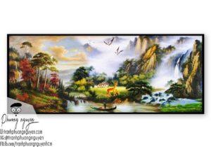 Tranh phong cảnh sơn thủy hữu tình - PN1082