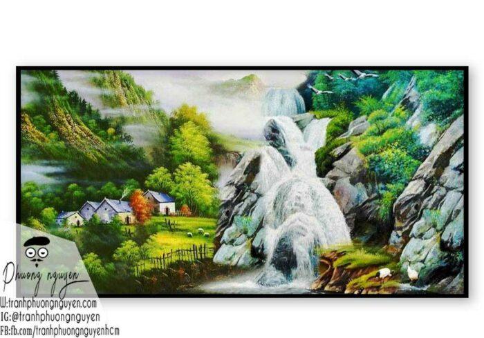 Tranh sơn dầu núi rừng - PN1113