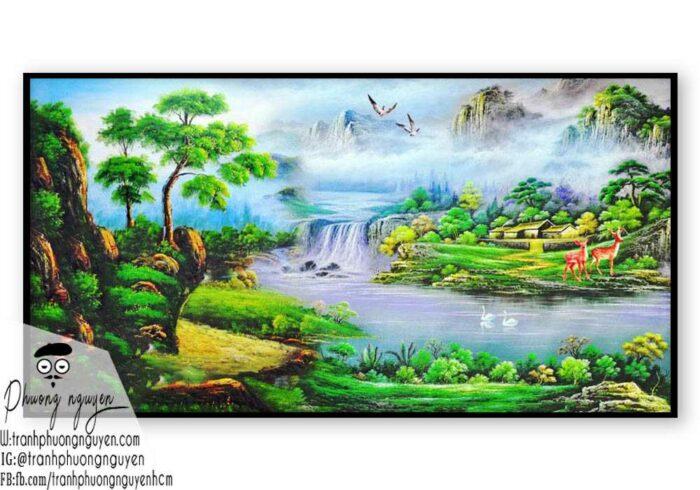 Tranh sơn dầu núi rừng - PN1114
