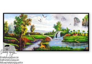 Tranh vẽ thiên nhiên núi hùng vỹ- PN1116