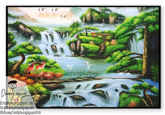 Tranh sơn thủy đẹp sơn dầu- PN1121