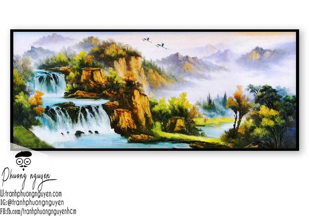 Tranh phong cảnh sơn thủy hữu tình - PN1086