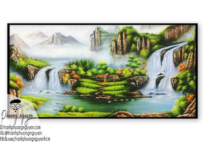 Tranh sơn thủy đẹp sơn dầu- PN1123