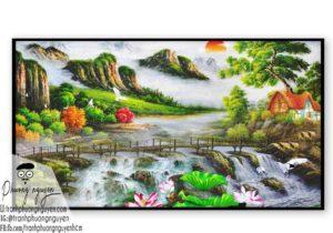 Tranh sơn thủy đẹp sơn dầu- PN1124