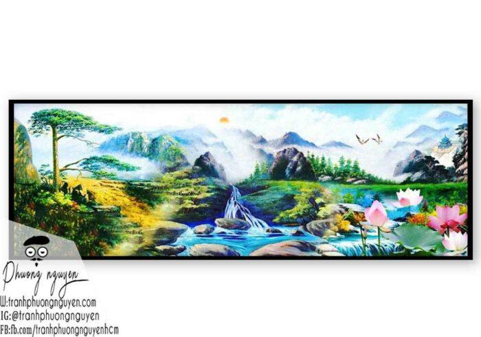Tranh sơn thủy đẹp sơn dầu- PN1126