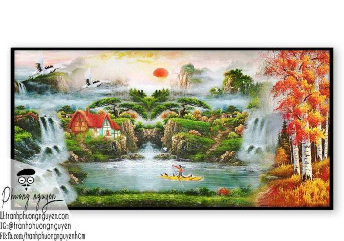 Tranh vẽ rừng núi đẹp nhất- PN1127
