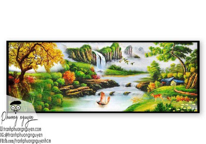 Tranh vẽ rừng núi đẹp nhất- PN1128